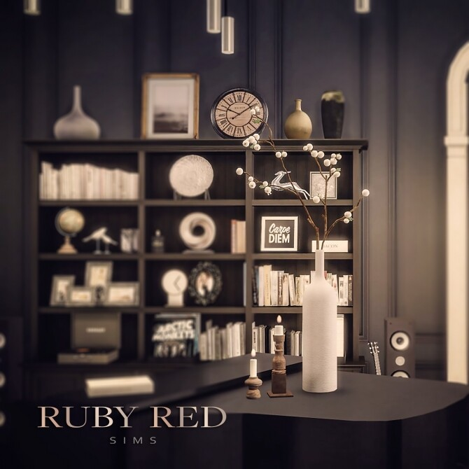 Artificial White Seed Plants, Pearl necklace & Jewelry box at Ruby's Home Design image 1621 670x670 Sims 4 Updates