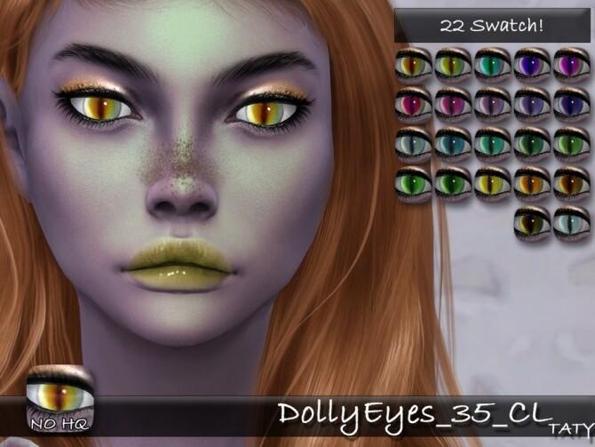 Sims 4 Dolly Eyes 35 CL by tatygagg at TSR