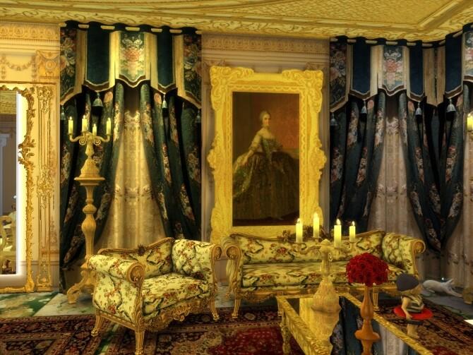 Sims 4 Curtains Set Luxury at Anna Quinn Stories