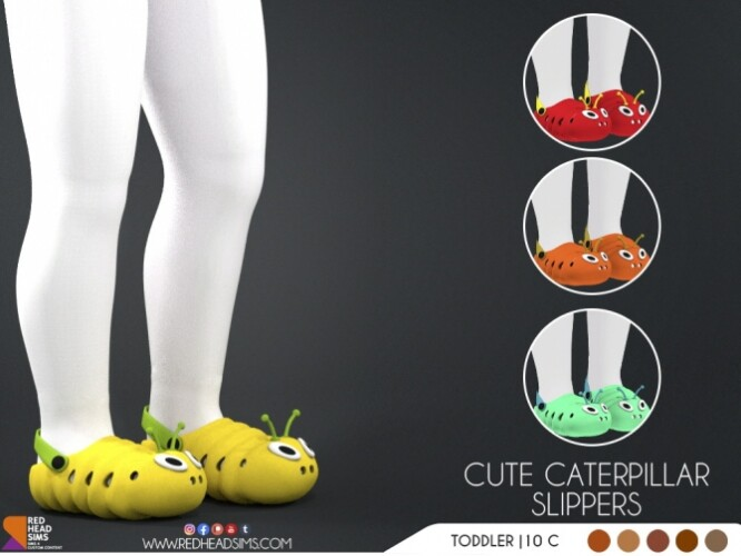 CUTE CATERPILLAR SLIPPERS