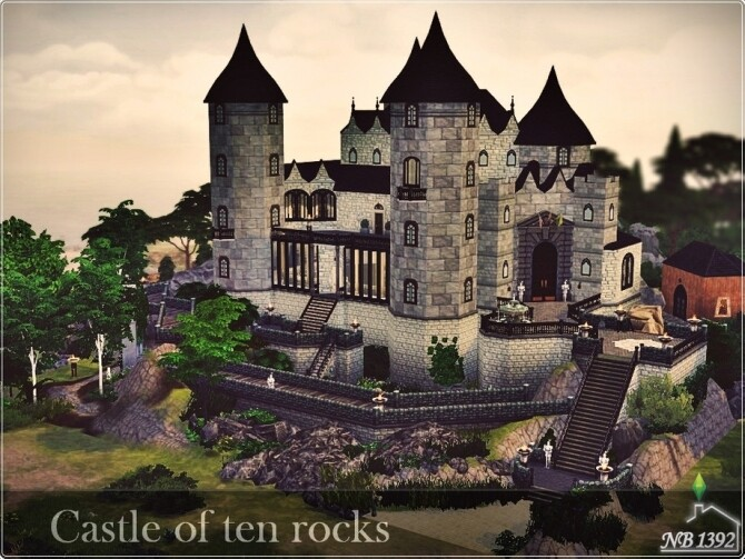 Castle of ten rocks by nobody1392 at TSR image 1640 670x503 Sims 4 Updates