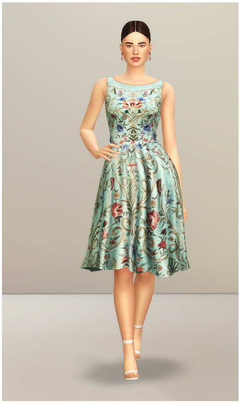 Sims 4 SS 2014 Collection I  1 dress at Rusty Nail