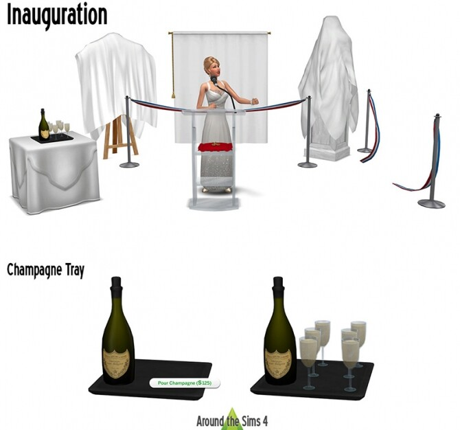 Sims 4 Inauguration set by Sandy at Around the Sims 4