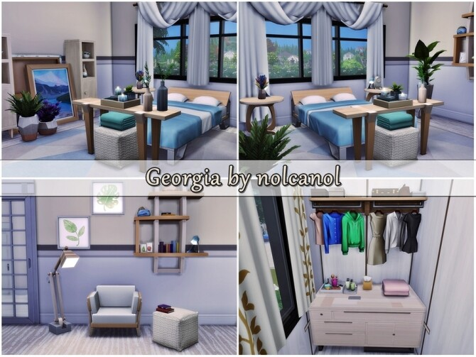 Sims 4 Georgia house by nolcanol at TSR