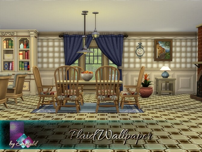 Sims 4 Plaid Wallpaper by emerald at TSR