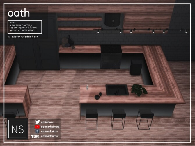 Sims 4 Oath Wooden Floor by Networksims at TSR
