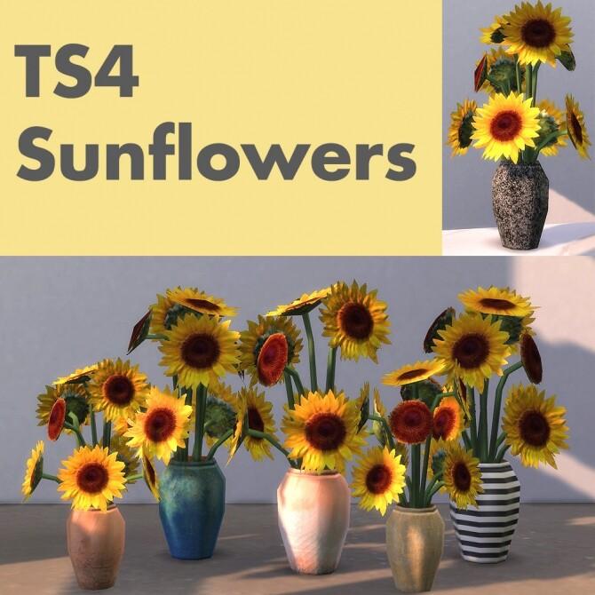 Sunflower retextures of a BG vase at Riekus13 image 175 670x670 Sims 4 Updates