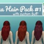 Henna hair pack 1 with a custom Buff