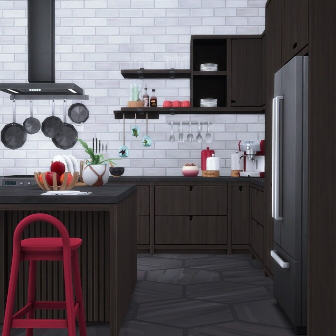 Sims 4 Urbane Kitchen by Peacemaker IC at Simsational Designs