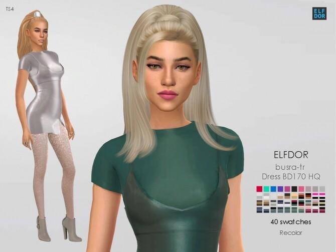 Sims 4 Busra tr Dress BD170 HQ RC at Elfdor Sims