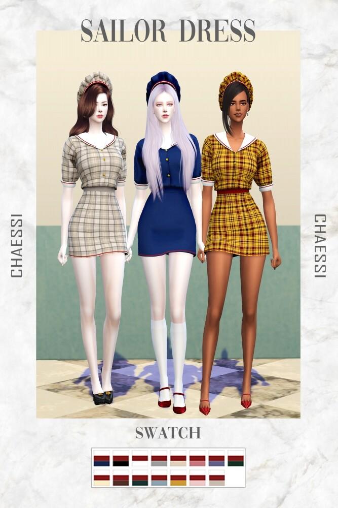 Sailor Dress at Chaessi image 1756 667x1000 Sims 4 Updates