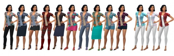 Sims 4 SP08 OPEN SHIRT at Sims4Sue