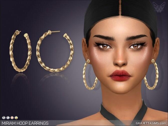 Miriam Hoop Earrings at Giulietta image 1772 670x503 Sims 4 Updates