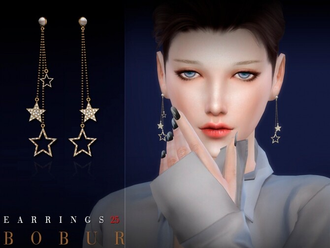 Earrings 25 by Bobur3 at TSR image 1796 670x503 Sims 4 Updates