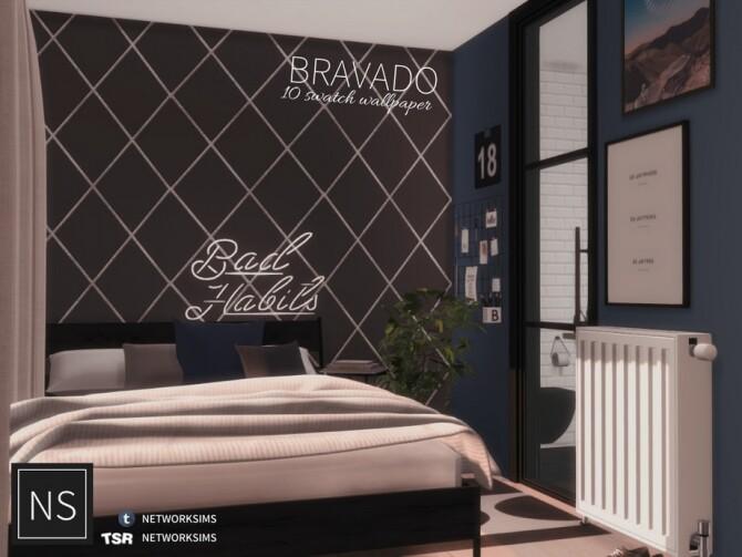 Sims 4 Bravado Wallpaper by Networksims at TSR