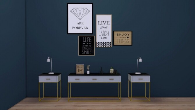 Sims 4 Marble Top Console at Sunkissedlilacs