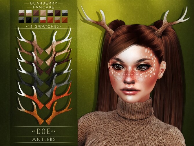 Deer & Doe Antlers at Blahberry Pancake image 18112 670x503 Sims 4 Updates