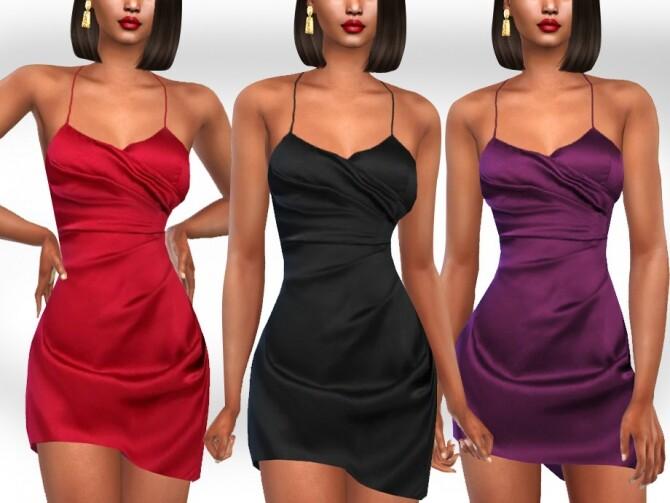 Sims 4 Formal Silk Dresses by Saliwa at TSR