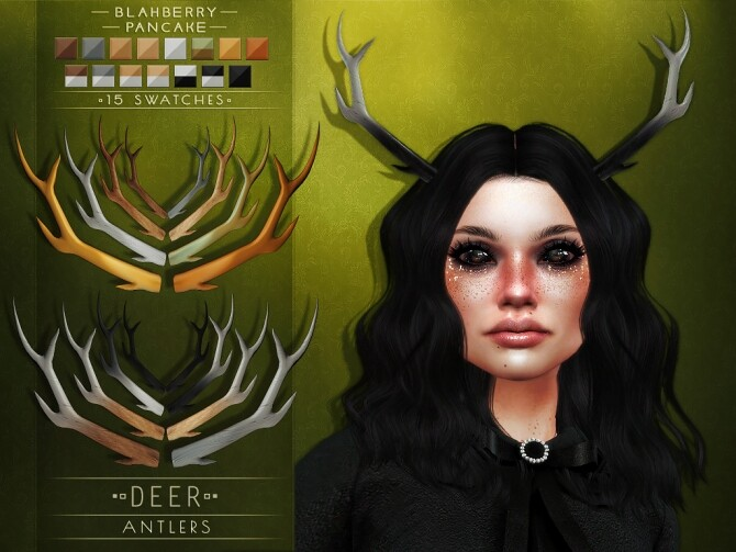 Deer & Doe Antlers at Blahberry Pancake image 18210 670x503 Sims 4 Updates