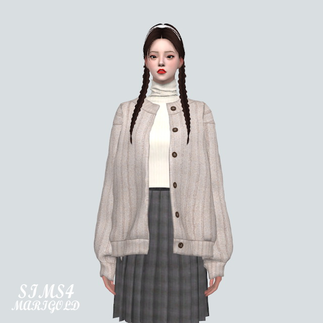 Sims 4 Turtleneck With Cardigan V2 at Marigold