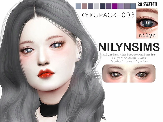 Sims 4 EYESPACK 003 at Nilyn Sims 4