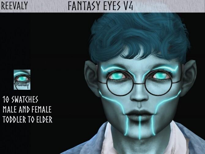 Sims 4 Fantasy Eyes V4 by Reevaly at TSR