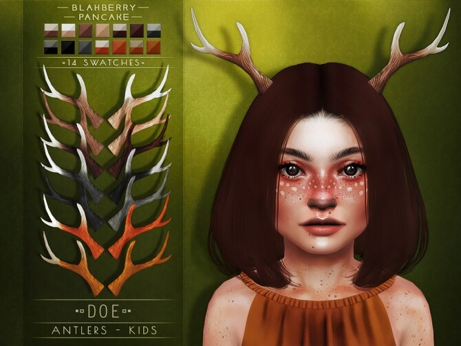 Deer & Doe Antlers at Blahberry Pancake image 1835 670x503 Sims 4 Updates