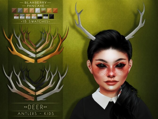 Deer & Doe Antlers at Blahberry Pancake image 1845 670x503 Sims 4 Updates