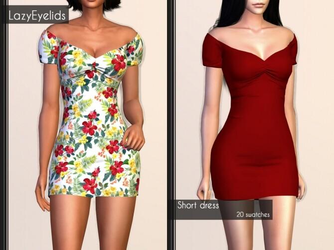 Short dress, Long skirt, 3 Tops (with straps, cross & ruffle) at LazyEyelids image 1846 670x503 Sims 4 Updates