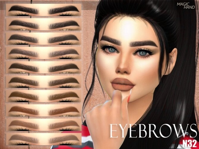 Sims 4 Eyebrows N32 by MagicHand at TSR