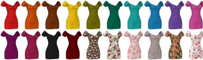 Short dress, Long skirt, 3 Tops (with straps, cross & ruffle) at LazyEyelids image 1856 670x199 Sims 4 Updates