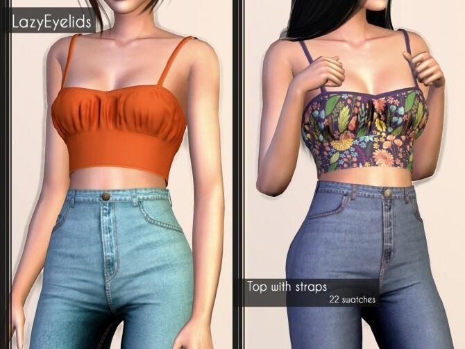 Short dress, Long skirt, 3 Tops (with straps, cross & ruffle) at LazyEyelids image 1865 670x503 Sims 4 Updates