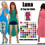 Luna top for girls by SamanthaGump