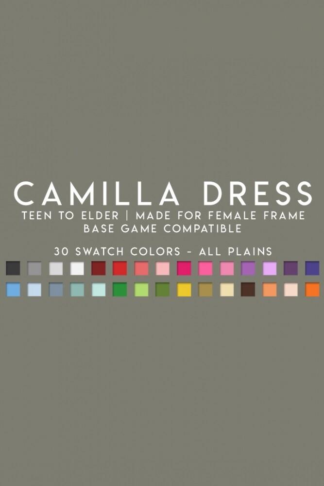 Sims 4 CAMILLA DRESS at Candy Sims 4