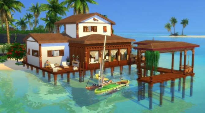 Sims 4 Kaloe house by Pyrenea at Sims Artists