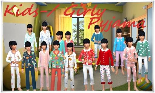 Girly Pajama for Kids