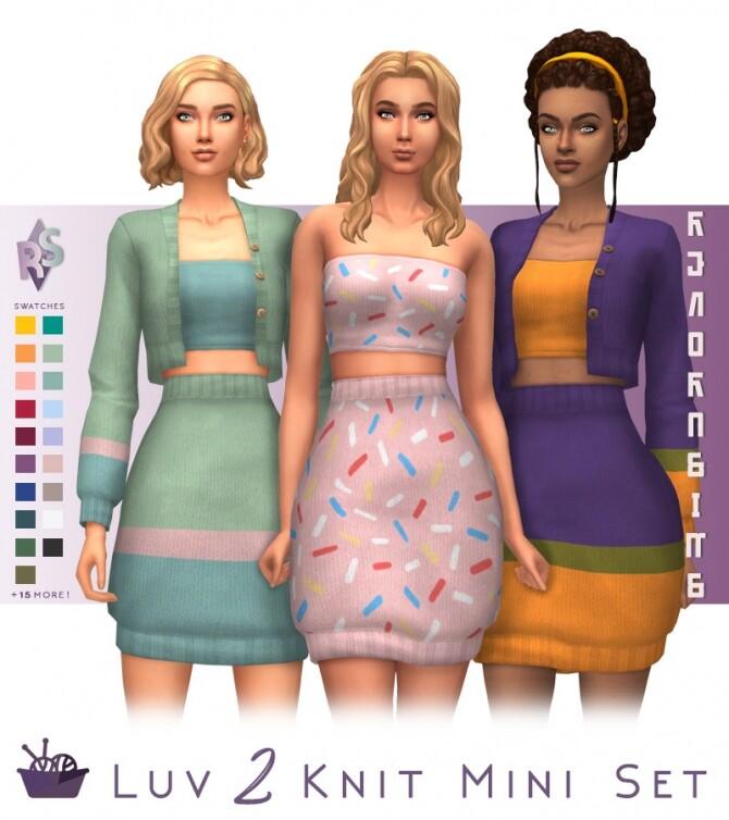 Luv 2 Knit Mini Set at RENORASIMS image 1955 670x754 Sims 4 Updates