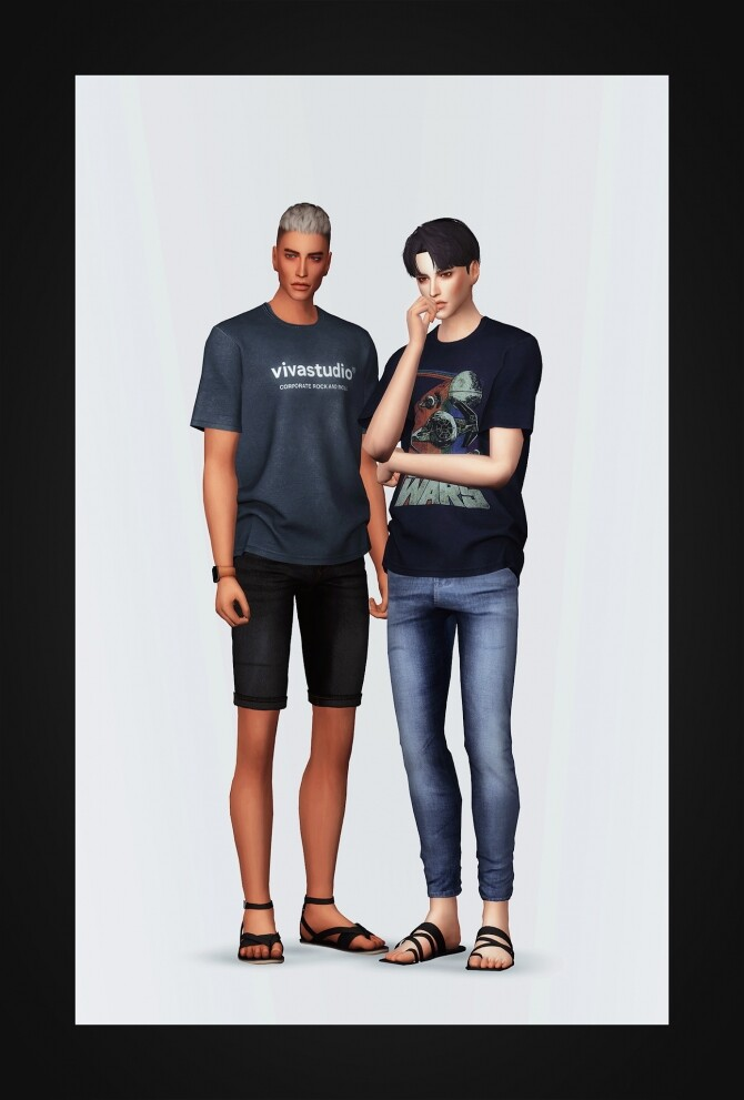 Washed T Shirt at Gorilla image 1963 670x991 Sims 4 Updates