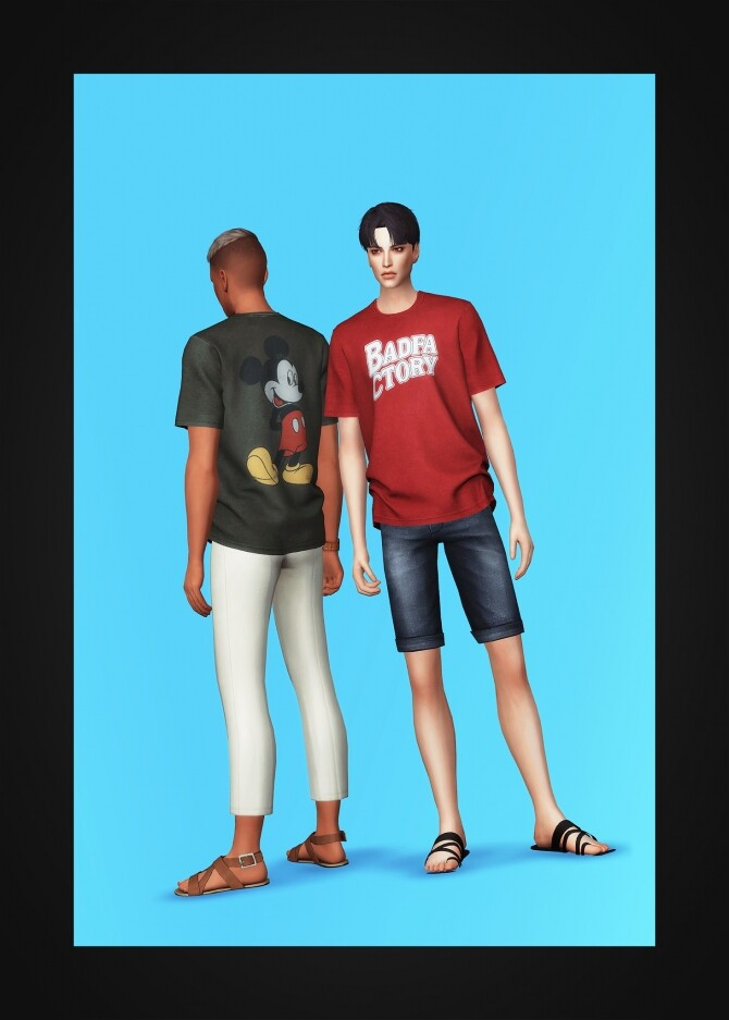 Washed T Shirt at Gorilla image 1973 670x937 Sims 4 Updates