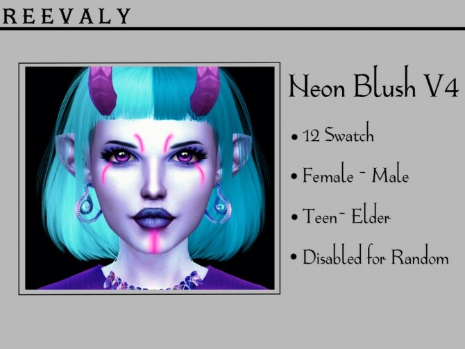 Sims 4 Neon Blush V4 by Reevaly at TSR
