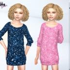 Junior Glitter Jumper Dress by Pinkfizzzzz