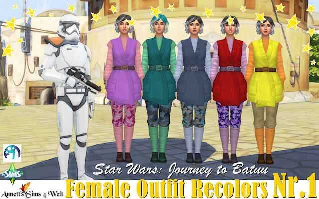 Star Wars Journey to Batuu Outfit Recolors Nr 1