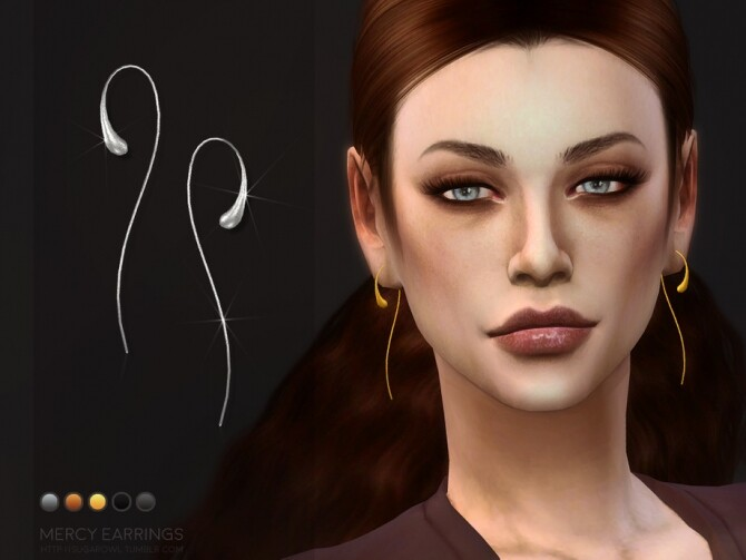 Mercy earrings by sugar owl at TSR image 2029 670x503 Sims 4 Updates