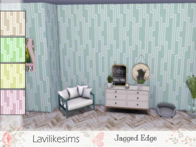 Jagged Edge wallpaper by lavilikesims