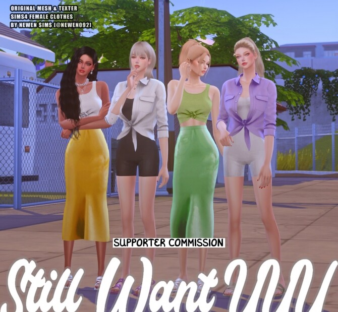 Still Want UUU clothes collection at NEWEN image 2043 670x619 Sims 4 Updates