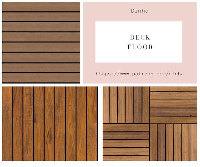 Sims 4 Deck Floor N1 at Dinha Gamer