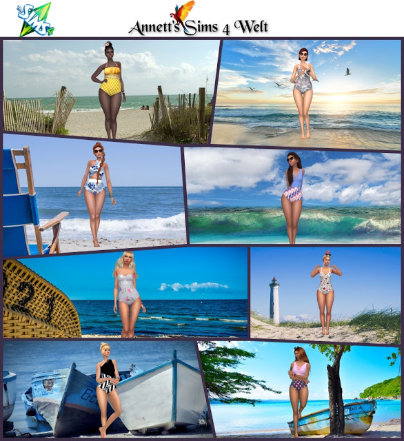 Sims 4 At the Beach CAS Backgrounds at Annett's Sims 4 Welt