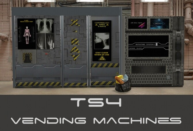 Cyberpunkish recolors of 2 vending machines