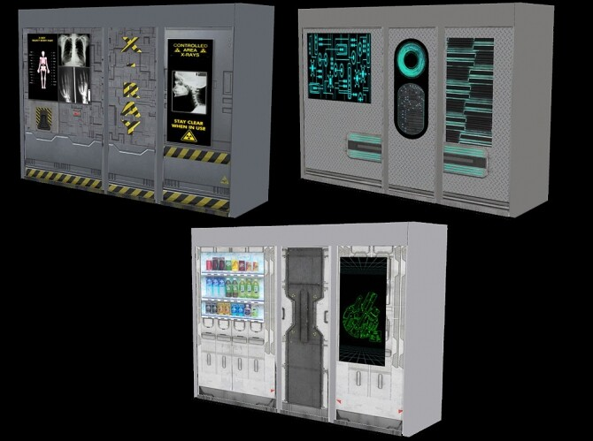Cyberpunkish recolors of 2 vending machines at Riekus13 image 2083 670x499 Sims 4 Updates