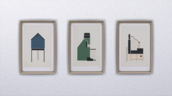 Sims 4 SHED SERIE ART PRINT at Meinkatz Creations